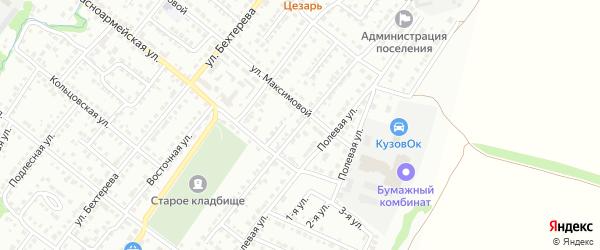 Садовая улица на карте Белебея с номерами домов