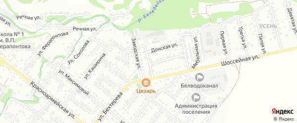Столярный переулок на карте Белебея с номерами домов