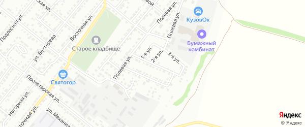 Переулок Мясокомбината на карте Белебея с номерами домов
