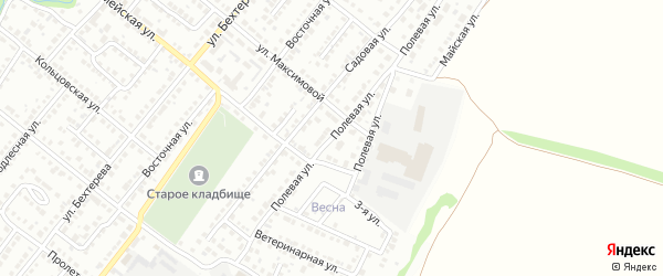 Полевая улица на карте Белебея с номерами домов