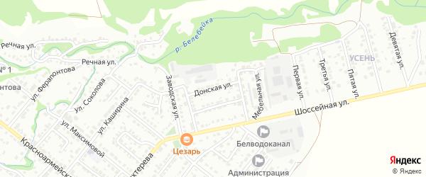 Донская улица на карте Белебея с номерами домов