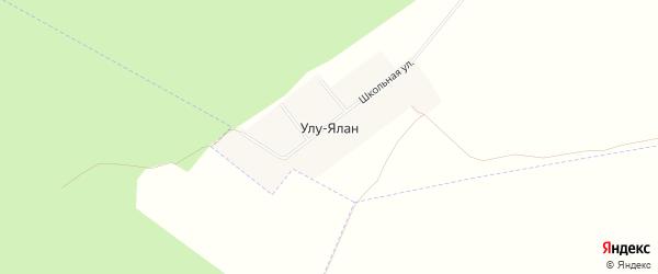Карта деревни Улу-Ялана в Башкортостане с улицами и номерами домов