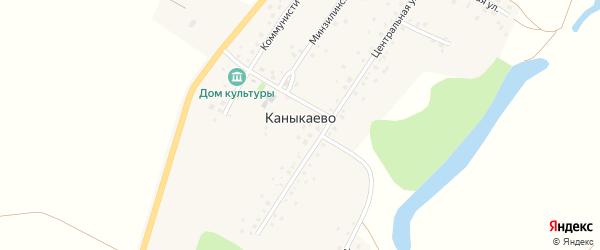 Минзилинская улица на карте села Каныкаево с номерами домов