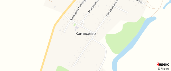 Шахматная улица на карте села Каныкаево с номерами домов