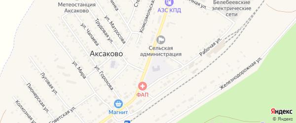 Первомайская улица на карте села Аксаково с номерами домов