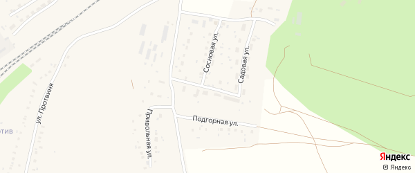 Садовая улица на карте села Аксаково с номерами домов