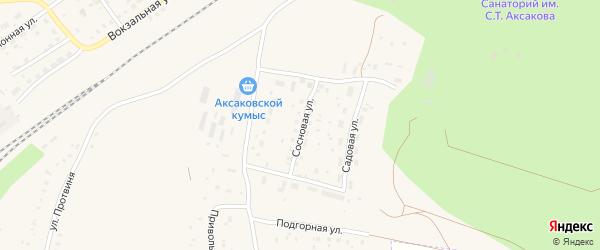 Сосновая улица на карте села Аксаково с номерами домов