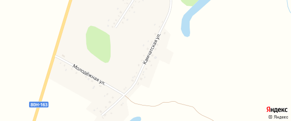 Камчатская улица на карте села Каныкаево с номерами домов