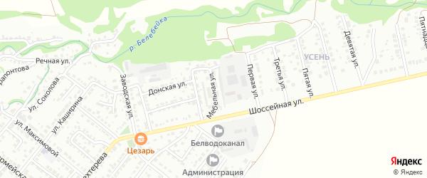 Мебельная улица на карте Белебея с номерами домов