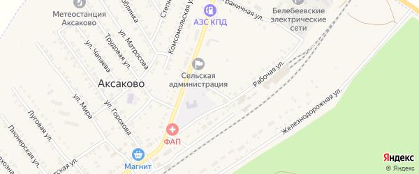 Подлесная улица на карте села Аксаково с номерами домов