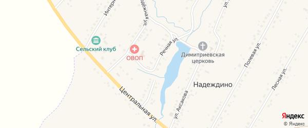 Речная улица на карте села Надеждино с номерами домов