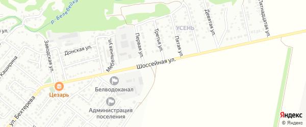 Шоссейная улица на карте Белебея с номерами домов