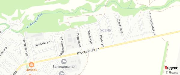 Третья улица на карте района Усень микрорайона с номерами домов
