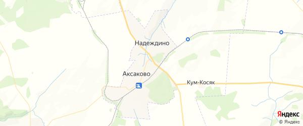 Карта Аксаковского сельсовета республики Башкортостан с районами, улицами и номерами домов