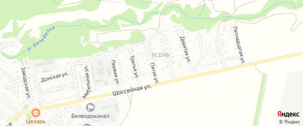 Пятая улица на карте района Усень микрорайона с номерами домов