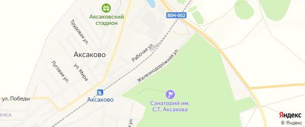 Карта деревни Кума-Косяка в Башкортостане с улицами и номерами домов