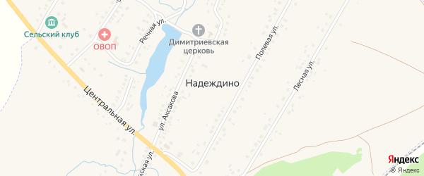 Новая улица на карте села Надеждино с номерами домов