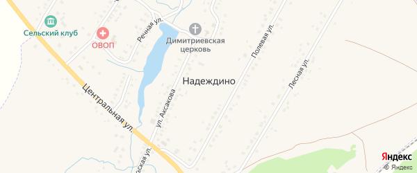 Молодежная улица на карте села Надеждино с номерами домов