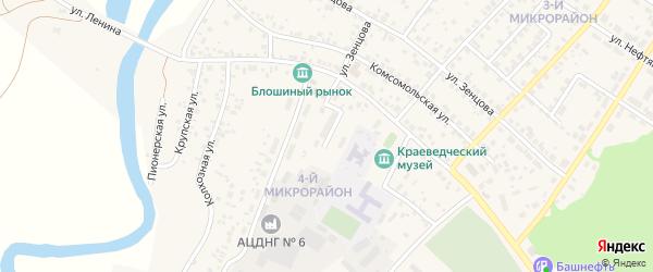 Улица Монтажников на карте села Николо-Березовки с номерами домов