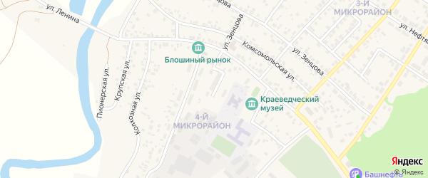 Переулок Монтажников на карте села Николо-Березовки с номерами домов