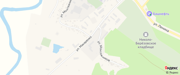 Улица Макаренко на карте села Николо-Березовки с номерами домов
