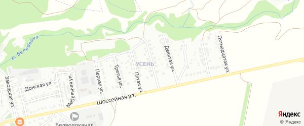 Седьмая улица на карте района Усень микрорайона с номерами домов