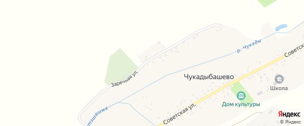 Заречная улица на карте села Чукадыбашево с номерами домов