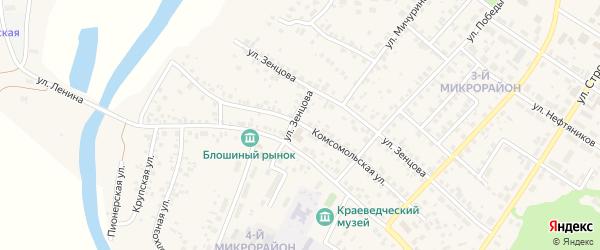 Комсомольская улица на карте села Николо-Березовки с номерами домов