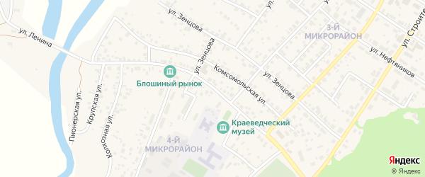 Улица Ленина на карте села Николо-Березовки с номерами домов