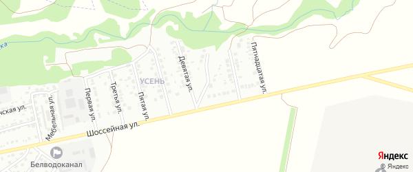 Одиннадцатая улица на карте района Усень микрорайона с номерами домов
