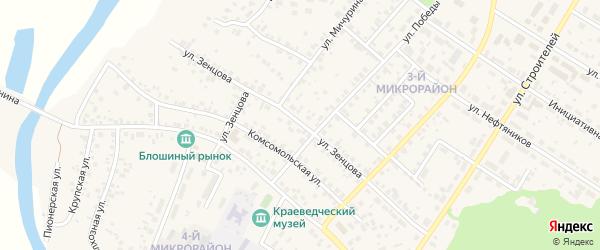 Улица Зенцова на карте села Николо-Березовки с номерами домов