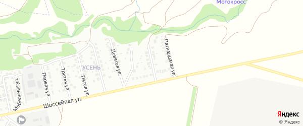 Тринадцатая улица на карте района Усень микрорайона с номерами домов