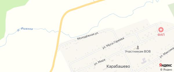 Молодежная улица на карте села Карабашево с номерами домов