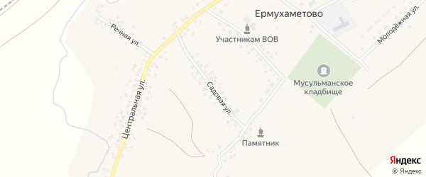 Садовая улица на карте села Ермухаметово с номерами домов