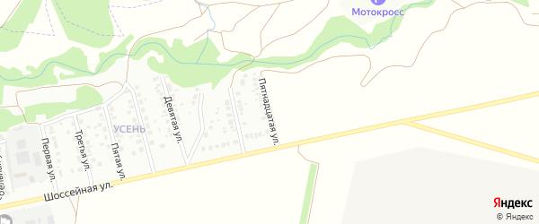 Пятнадцатая улица на карте района Усень микрорайона с номерами домов