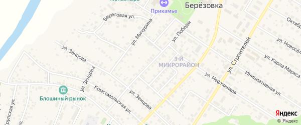 Улица Победы на карте села Николо-Березовки с номерами домов