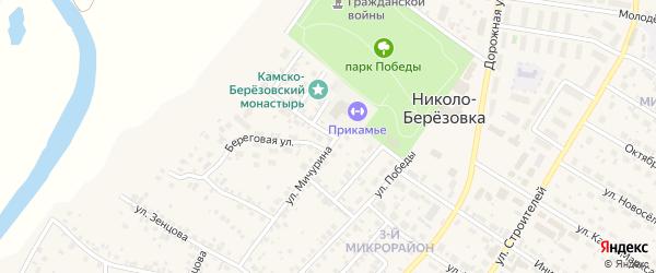 Парковая улица на карте села Николо-Березовки с номерами домов