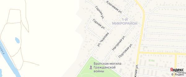Переулок Чкалова на карте села Николо-Березовки с номерами домов