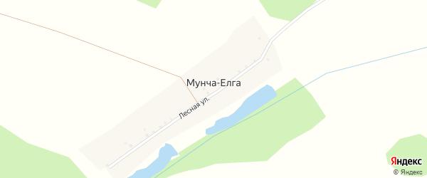 Лесная улица на карте деревни Мунчи-Елги с номерами домов