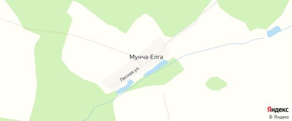 Карта деревни Мунчи-Елги в Башкортостане с улицами и номерами домов
