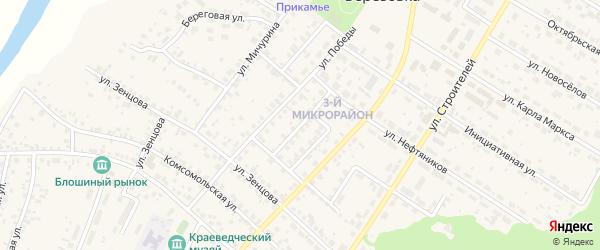 Улица Папанина на карте села Николо-Березовки с номерами домов