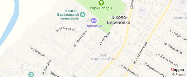 Улица Малышева на карте села Николо-Березовки с номерами домов