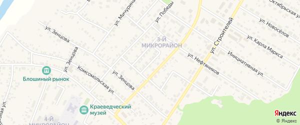 Улица Чайковского на карте села Николо-Березовки с номерами домов