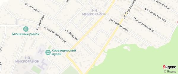 Дорожный переулок на карте села Николо-Березовки с номерами домов