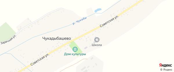 Советская улица на карте села Чукадыбашево с номерами домов