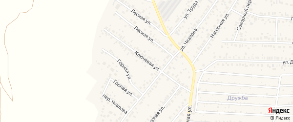 Ключевая улица на карте села Николо-Березовки с номерами домов