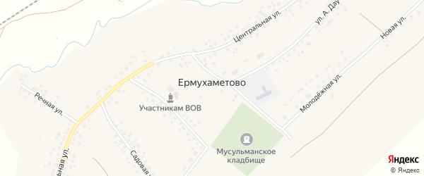 Улица А.Даутова на карте села Ермухаметово с номерами домов