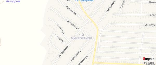 Улица Чкалова на карте села Николо-Березовки с номерами домов