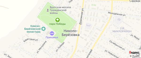 Переулок Дружбы на карте села Николо-Березовки с номерами домов