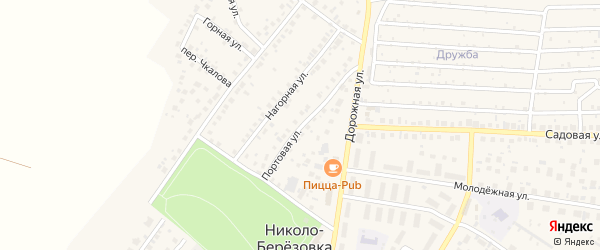 Портовая улица на карте села Николо-Березовки с номерами домов